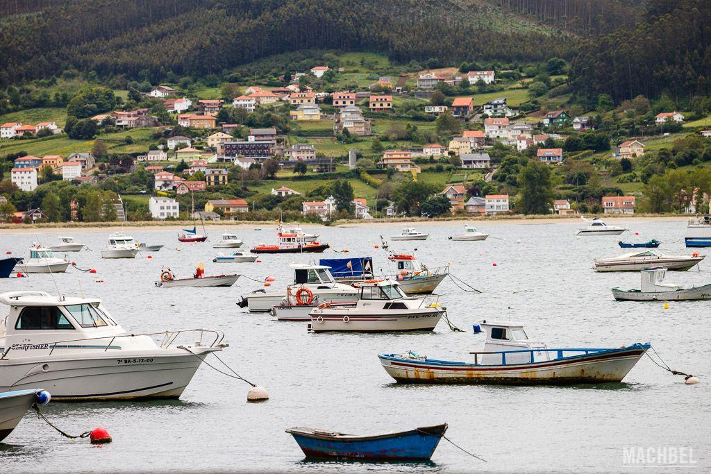 Barcos en la ría de Cedeira
