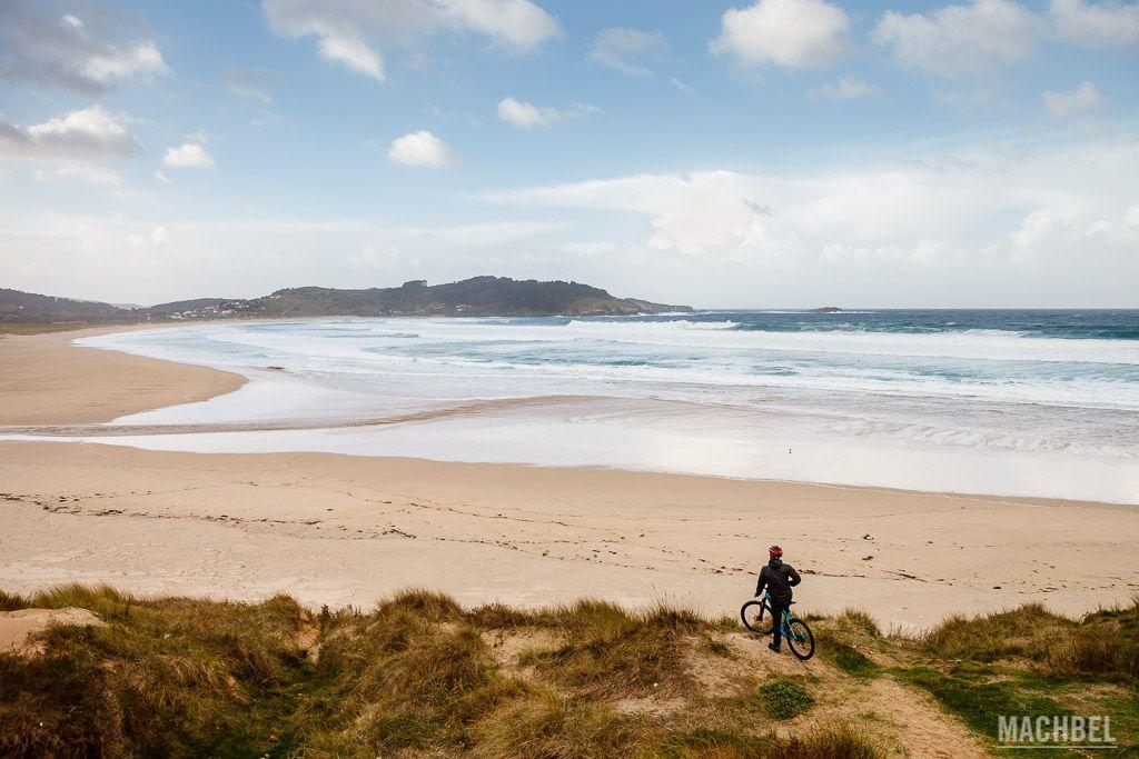 Visitando la playa de San Xurxo en bicicleta