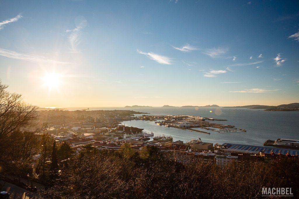Vigo desde el mirador de Castelo do Castro