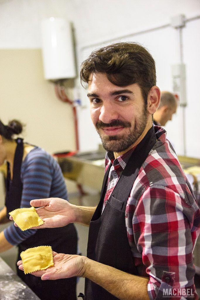 En el taller de cocina de Bérgamo