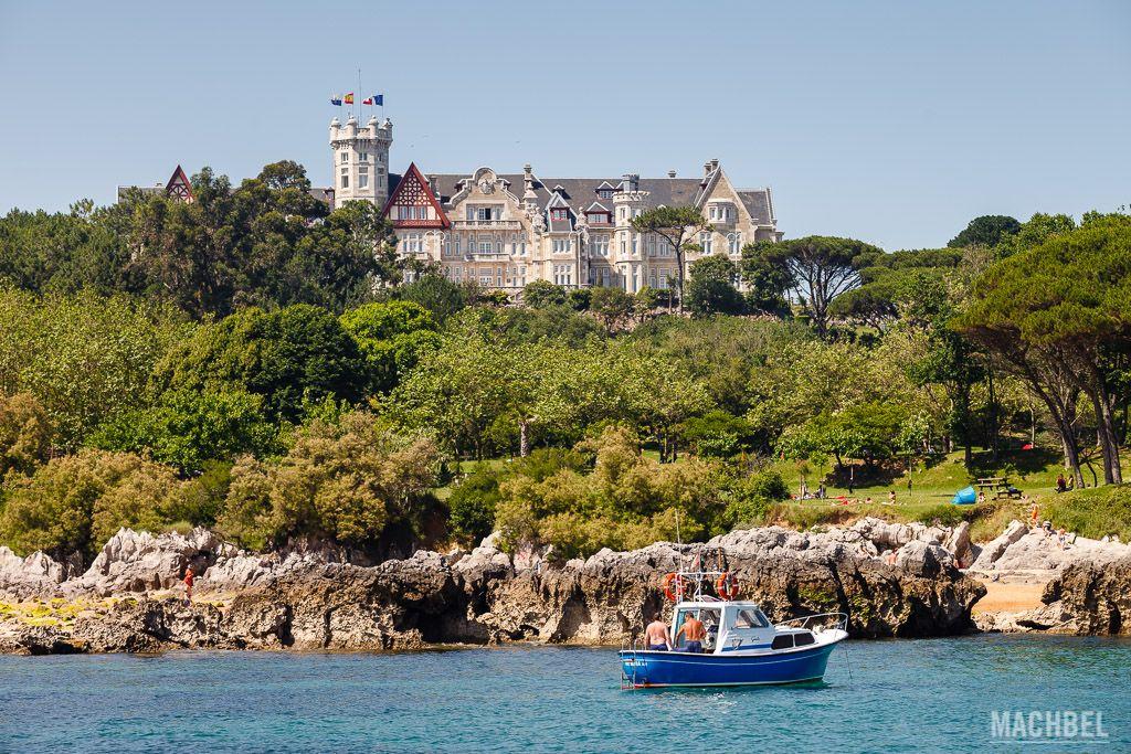 Palacio de la Magdalena desde el mar