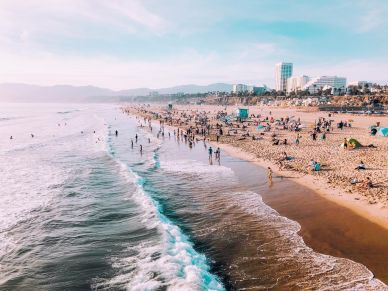 Playa de Santa Mónica en Los Ángeles