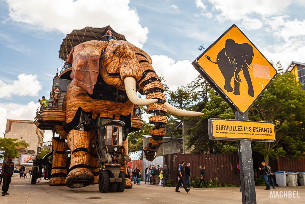 El gran elefante de la Isla de las Máquinas