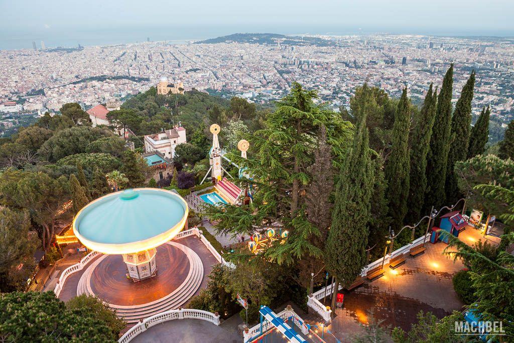 El parque de Tibidabo en Barcelona escenario de El maquinista