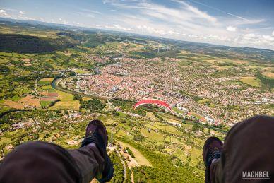 Volando en paapente sobre Millau