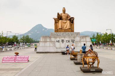 Estatua del Rey Sejong el Grande en Seúl