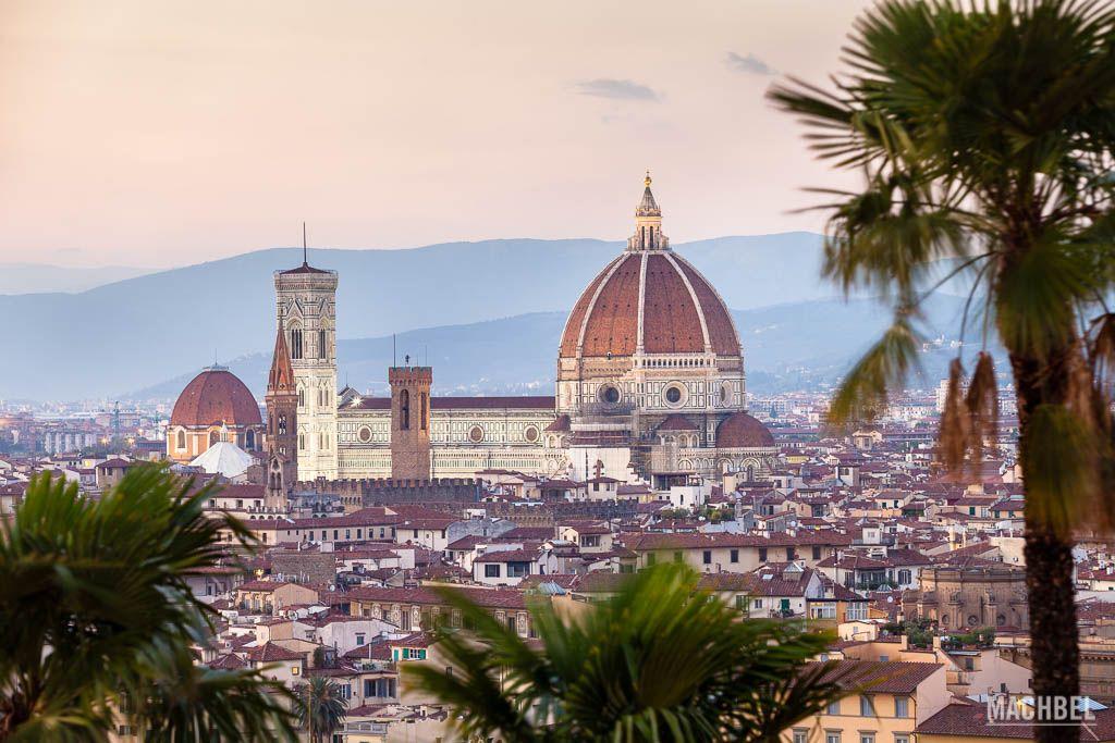 Vista de Florencia al atardecer