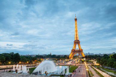 Trocadero y torre Eiffel