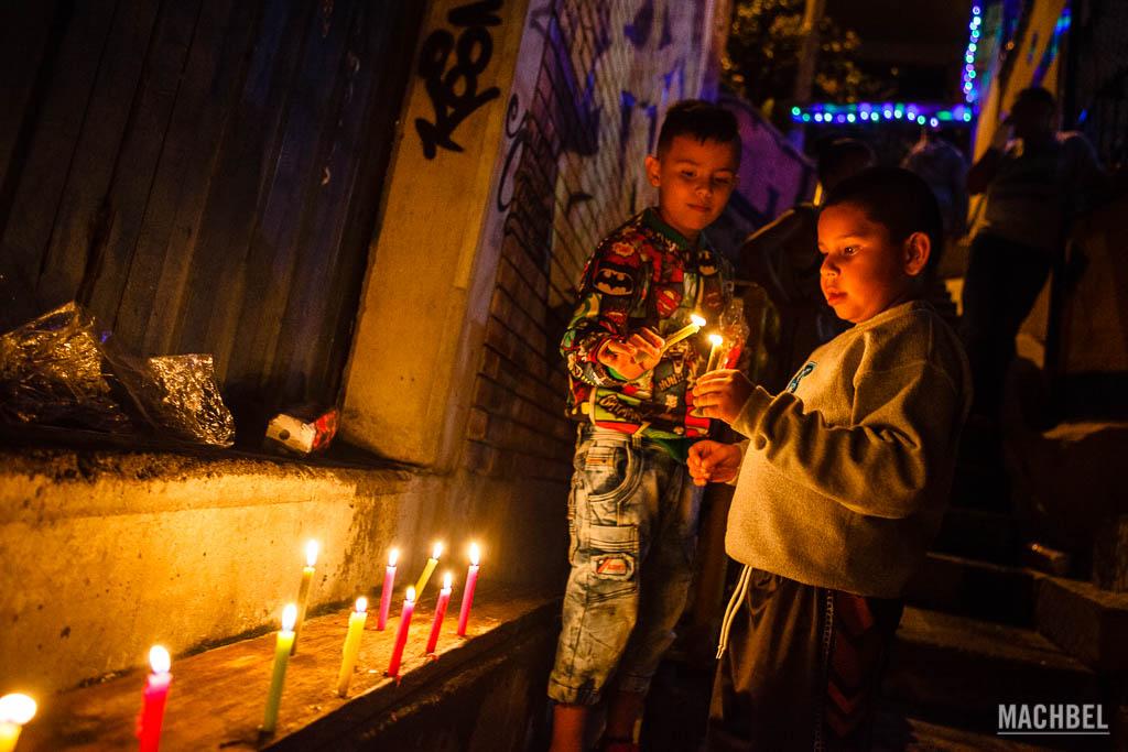Día de las velitas en la Comuna 13