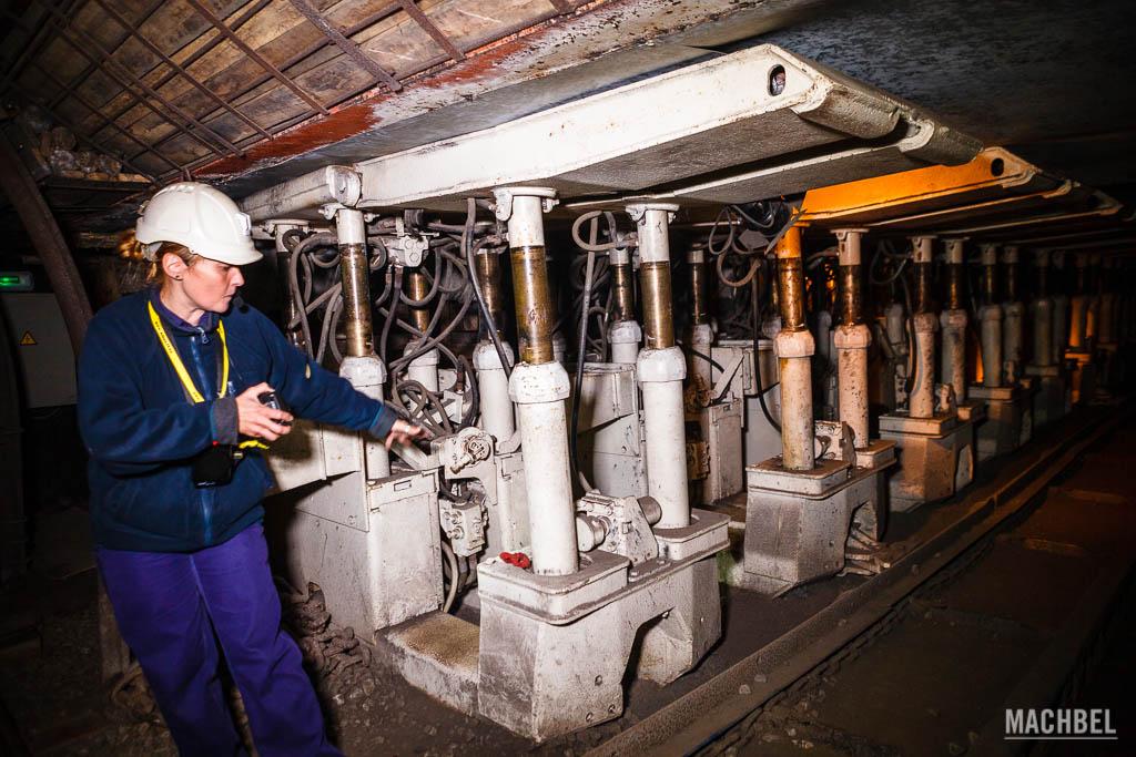 Máquina del museo de la Minería
