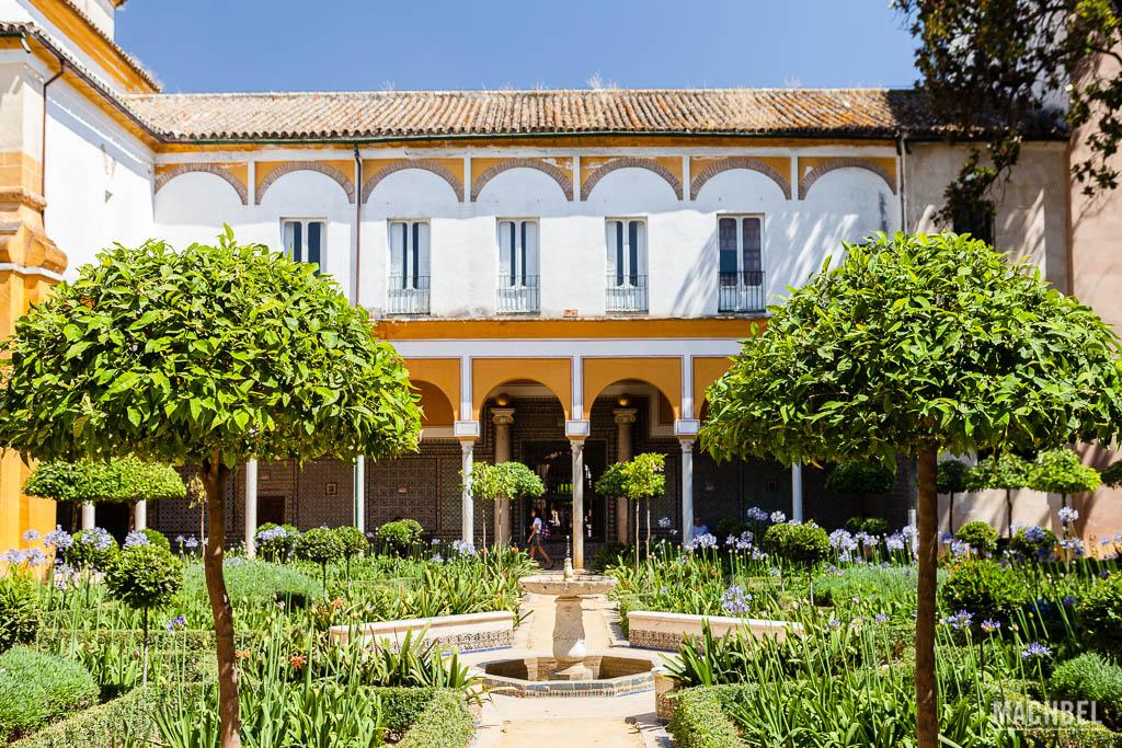 Jardín interior de la Casa de Pilatos