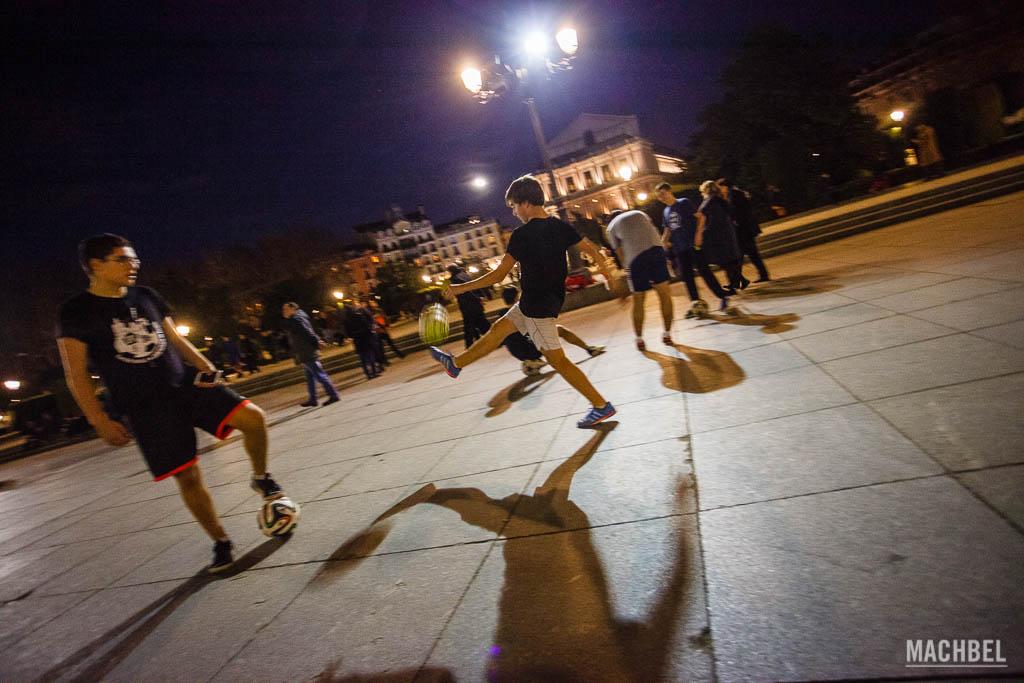 Jugando de noche