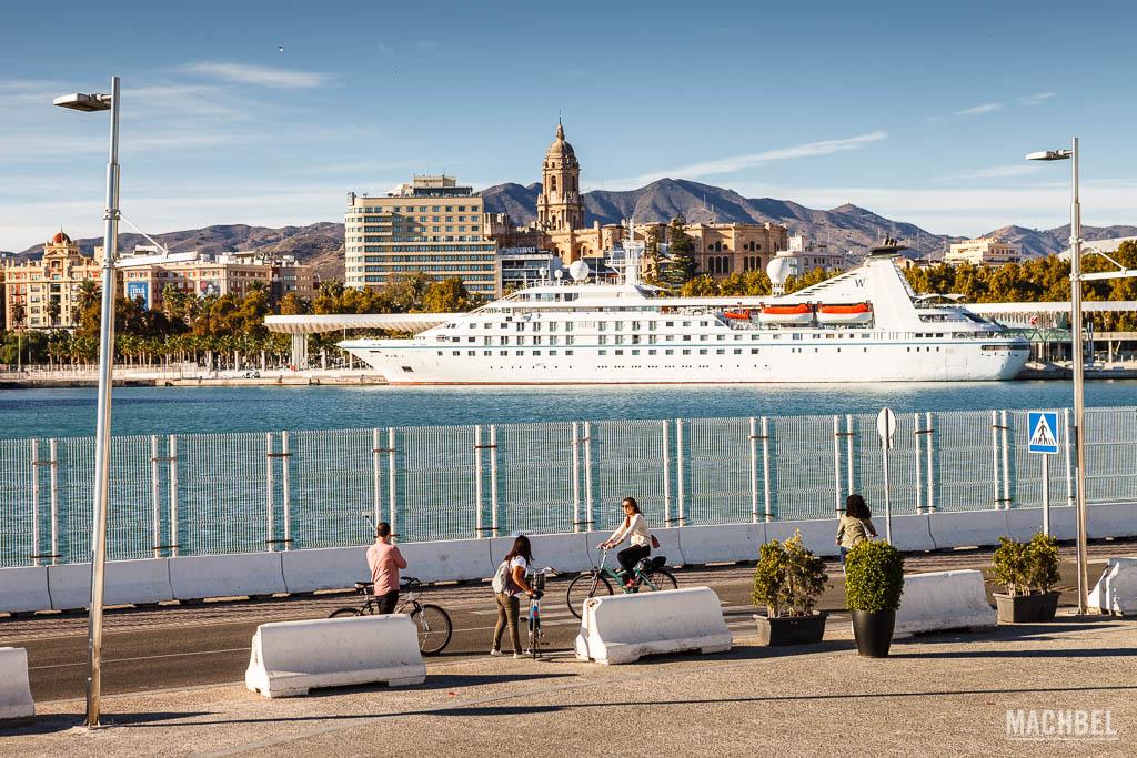 Crucero en la ciudad de Málaga