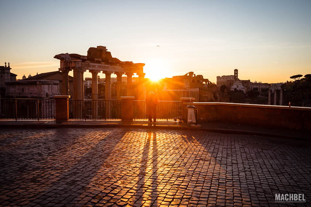 Amanecer en la Piazza del Campidoglio