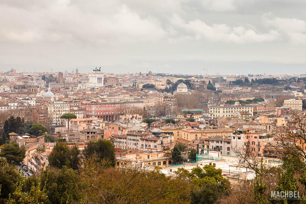 Panorámica desde el  Belvedere del Gianicolo