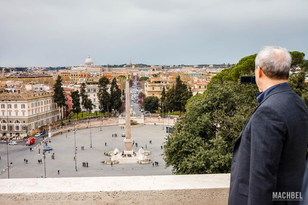 Piazza Popolo desde las terrazas de Pincio