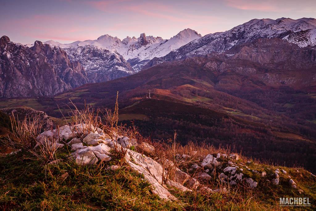 Picos de Europa desde el mirador de Asiego