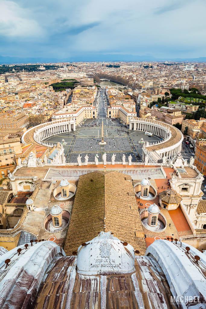 Vistas de Roma desde lo alto de San Pedro