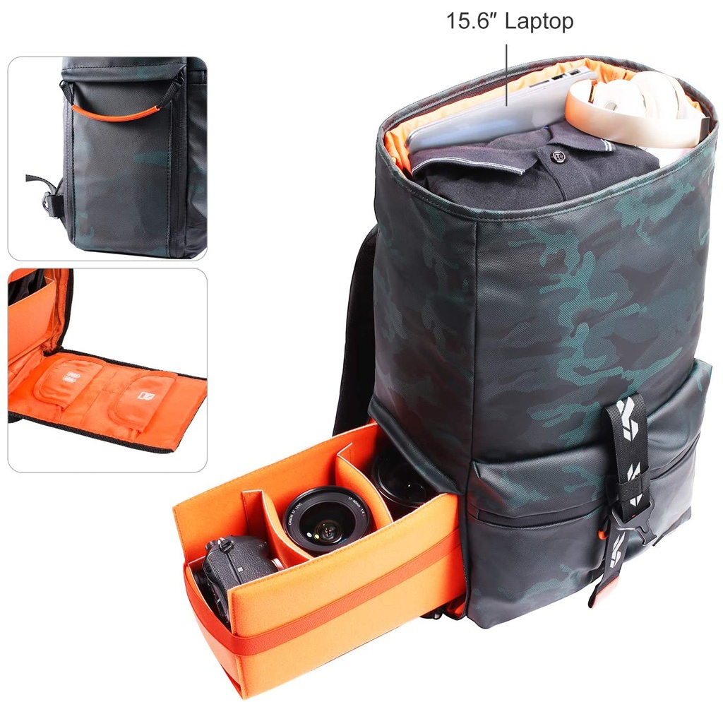 Compartimentos de la mochila de K&F