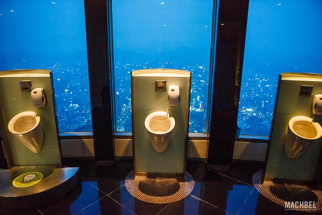 Aseos en la Seúl Towerl