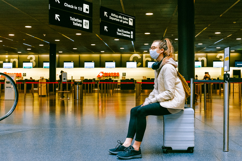 Esperando en el aeropuerto