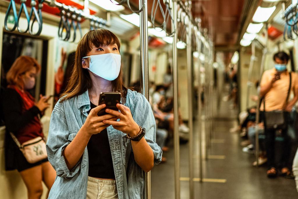 Mascarilla en el metro