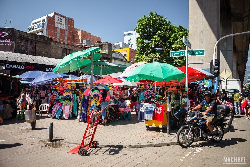 Puestos en la calle Carabobo
