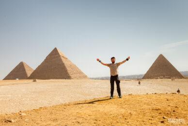 Visitando las Pirámides de Giza en Egipto
