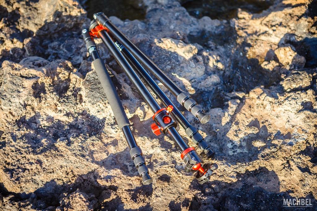 Trípode K&F Concept SA254T1 plegado al máximo