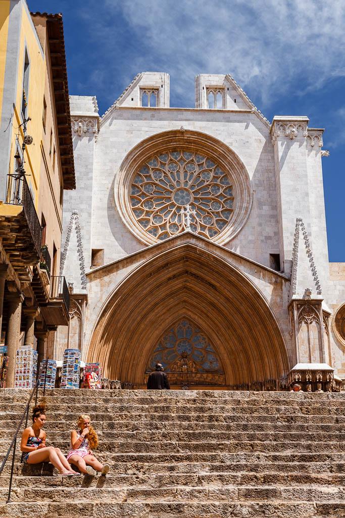 Fachada de la catedral de Tarragona
