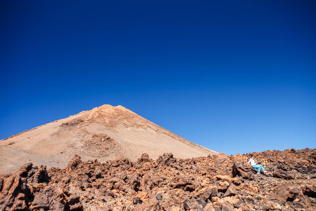 Foto con la cima del Teide