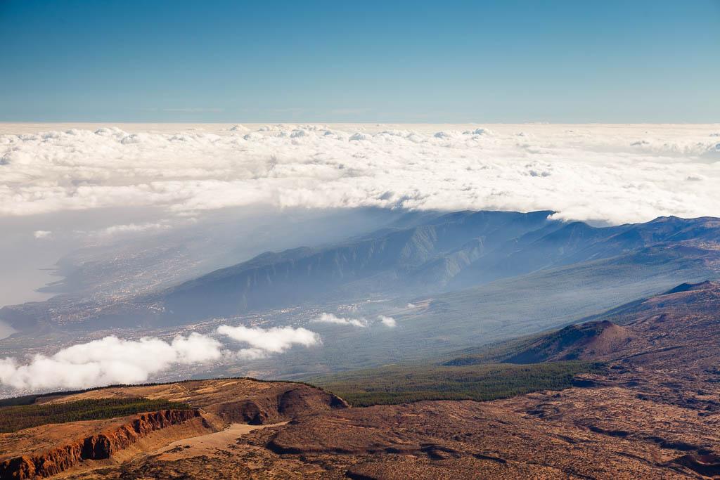 Mar de nubes y norte de Tenerife